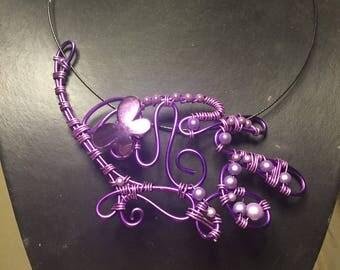 Parma violet necklace long
