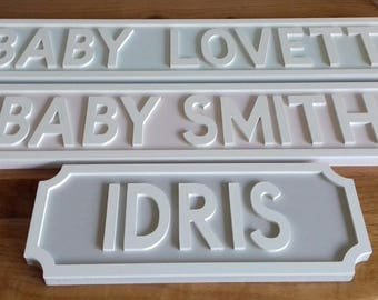Personalised Street Sign. Vintage. Personalized. Baby Shower. New Baby.