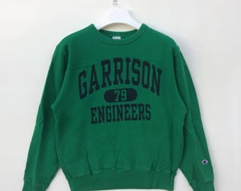 Vtg rare 90s Champion big logo spell out sweatshirt pullover M size