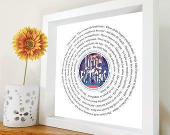 Elbow - Magnificent (She Says) - Framed Lyrics Manchester Bands - Little fictions framed lyric print - Framed Song Lyrics