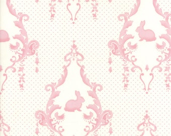 Moda Fabric - Lily and Will Revisited by Bunny Hill Designs - Cream/Pink - 2800 23 - Choose the length of fabric