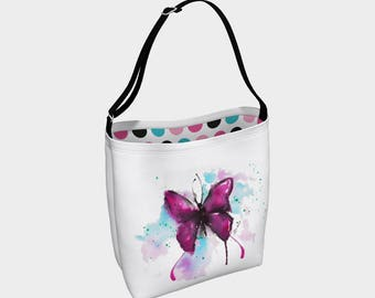 """Watercolor Butterfly"" shoulder bag"