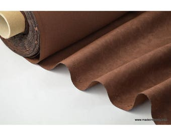 chocolate faux fabric for tablecloth and decoration. x 1 m
