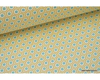 Cretona de algodón tela impresa tendencia amarillo gráfico x50cm