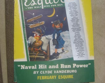 """1942 Litho Poster Esquire Magazine for Men February 22"""" X 28"""""""
