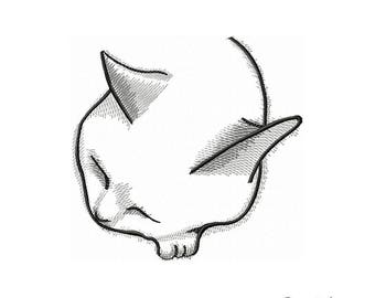 Cat - Machine Embroidery Design, Embroidery Cat   4*4, 5*7, 6*8