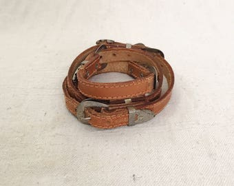 Old Western Belt with Buckles