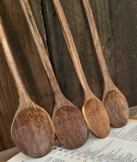 Hand Carved Wooden Spoon Walnut Cook Spoon