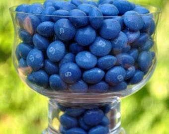 A half pound of blue raspberry Skittles