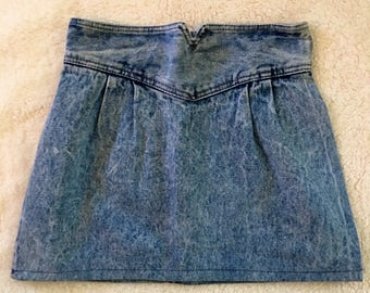 Acid wash vintage high waisted zena skirt