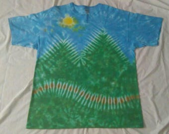 2XL Ice Tie Dye Gildan Ultra Cotton T-shirt