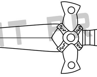 Xena Sword template