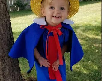 Madeline Cape, Madeline Cape and Hat, Madeline Costume, Madeline Dress up, , Madeline Storybook