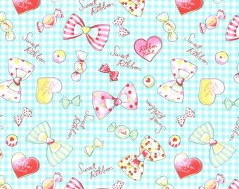 Aqua Sweets Cotton Oxford fabric