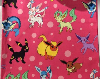Eeveelutions/Pink Pokemon Snuggle Sack for Hedgehogs, Guinea Pigs, and other small pets!