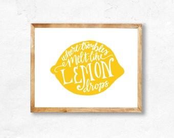 Lemon Drop printable (INSTANT DOWNLOAD)