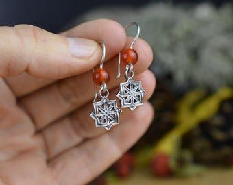 SMALL Molvinets Handmade Earrings. Ancient slavic amulet. Nordic talisman. Scandinavian Viking Earrings. Pagan Nordic Celtic Amulet.