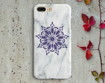 White marble mandala iPhone 7 plus case,iPhone 7 case,iPhone 6 plus case,iPhone 6 case,iPhone SE case,S8 S8 Plus S7 S7 S6 S5 J1 j2 j3 j5 j7