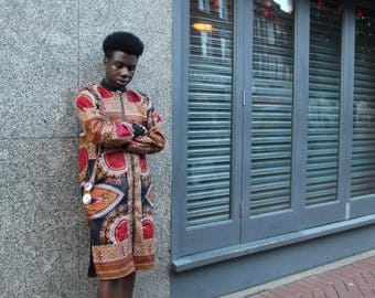 African Jacket - Dashiki Jacket - African Clothing - African Coat - Festival Jacket - Festival Clothing - Wax Print Jacket - Dashiki