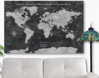 Travel decor etsy world map gifts world map 2017 world 2017 world map world travel tracking map world travel gumiabroncs Gallery