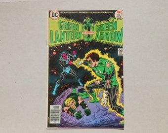 Green Lantern #91;  Green Arrow and Green Lantern; VS Sinestro; Green Lantern 1976; Mike Grell Art; Green Arrow; Classic Comic!