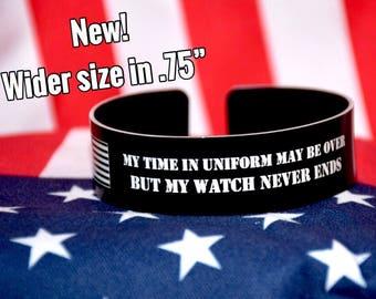 Veteran Bracelet / Gift for Soldier / Remeber the Fallen / KIA Bracelet / Memorial Bracelet / Custom Engraved / Marine Corps / USMC / Army