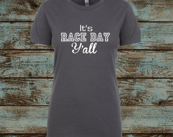 It's Race Day Y'all, Racing Shirt, Checkered Flags, Car number, Racing Mom, Racing Family