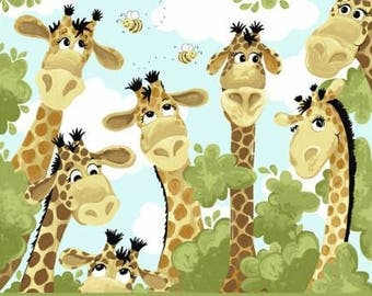 """Zoe the Giraffe Play Mat or Wall Hanging Panel 36"""" from Susybee SB20062-430 juvenile cotton woven fabric character children baby"""