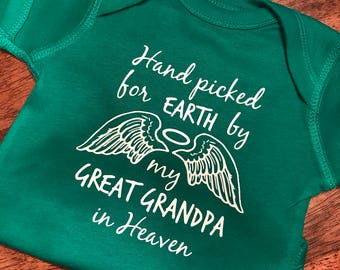 Hand picked for earth from Heaven/Onesie/Short Sleeve/Baby