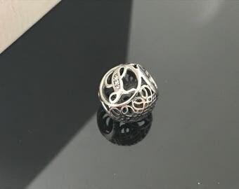 Pandora Letter L Vintage Bracelet Sterling Silver Charm S925