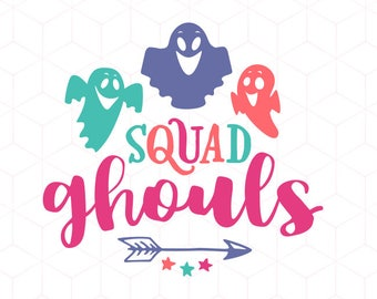 SVG Squad Ghouls SVG Halloween svg Cricut Ghost svg Instant Download Squad svg Cutting File. Ghoul svg Ghost Cricut SVG Cut File