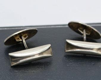 Vintage HERMANN SIERSBOL Denmark Sterling Silver Designer Modernist CUFFLINKS