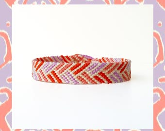 Woven Friendship Bracelet Chevron Flat Braids Aztec Tribal Mayan Mexican boho hippie  women unisex handmade macrame trend - Q'enqo Bracelets