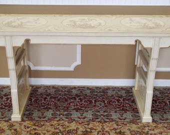 1980s Drexel Heritage White Asian Ming Treasures Collections Alter ~ Console Table