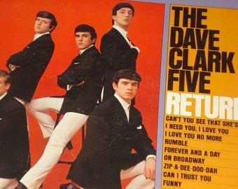 Dave Clark Five vinyl record, Dave Clark Five Return! vintage vinyl record