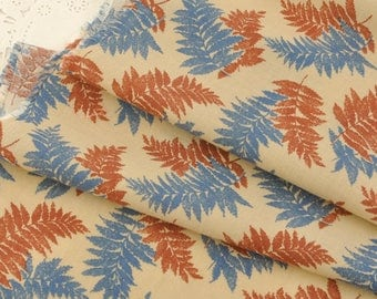 Yellow Cotton Fabric Leaves MT052