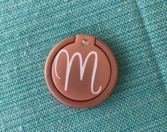 Monogram Phone Ring Kickstand, Personalized Cell Phone Accessory, Inital Phone Ring