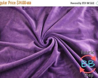 30% OFF Purple Organic Cotton Velour Fabric, Cloth Diaper Material, Cotton Velour, Purple Cotton Velour, by the yard, 280gsm