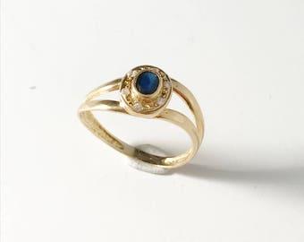 Mid Century 18k Gold Ring.