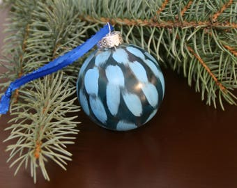 Dark Blue and Light Blue Ornament