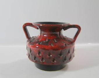 Gorgeous strawberry vase (by Fratelli Fanciullacci?), Italian Pottery, Mid Century