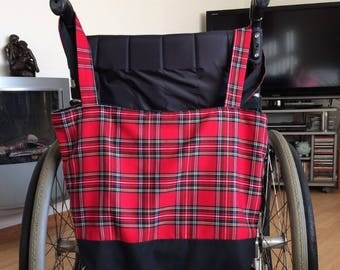 Royal Stewart Tartan Wheelchair shopping  bag