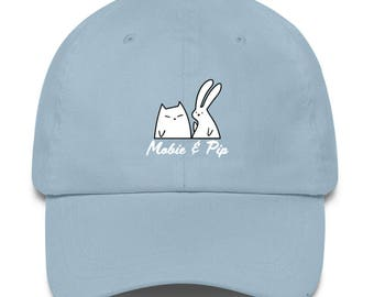 Mobie and Pip - Bunny and Cat Baseball Cap