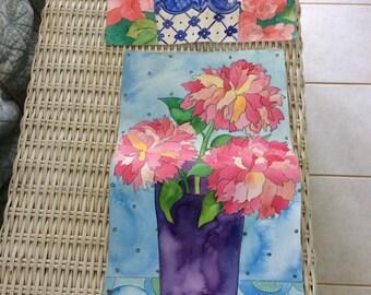 2 Vintage Watercolor Paintings by Same Artist On Water Color Paper Signed To Repair or Repurpose