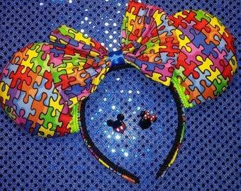 Autism Awareness Ears, Autism Awareness, Mickey Ears, Minnie Ears, Mickey Mouse, Minnie Mouse, Disney themed Ears