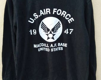 US Air Force 1947 sweatshirt crewneck jumper black colour