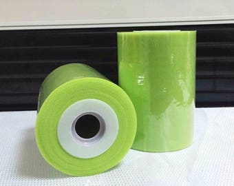 Roll of tulle of high quality lime green 15 cm x 82 m tutu and decoration