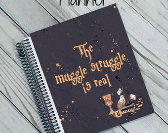 2018 Planner - Harry Potter Planner - Muggle Struggle - Muggle - Daily Planner - Ready To Ship Planner - Christmas Planner - Goal Planner
