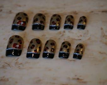 Cheetah Print Handmade Artificial Nails