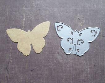 Die cut matrix Sizzix animals medium Butterfly flower shape